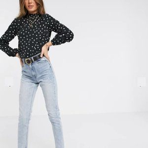 BNWOT - New Look Polka dot long sleeve blouse